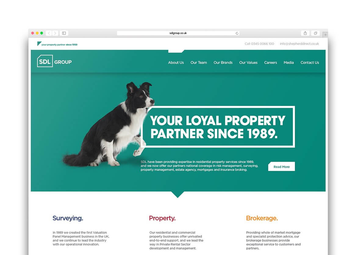 SDL Website Design   Branding Derby   WDA