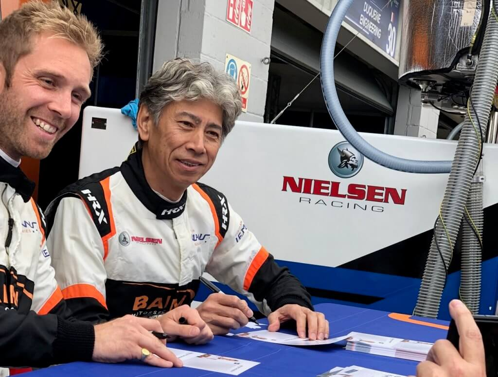 Nielsen Racing autographs in the pits