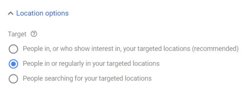 location options