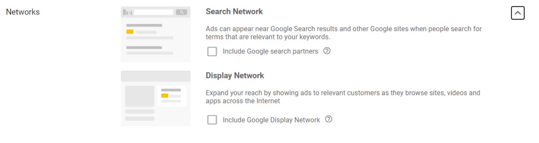 search network settings